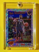 Zion Williamson SCOPE SILVER PRIZM ROOKIE PREMIUM STOCK NBA HOOPS 2019-20 RC MT