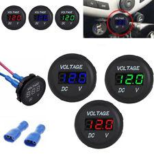 12V 24V Car Marine Motorcycle LED Digital Voltage Voltmeter Meter Battery Gauge