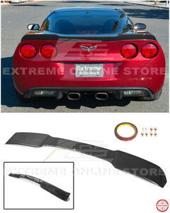 For 05-13 Corvette C6 | ZR1 Extended HYDRO CARBON FIBER Rear Trunk Wing Spoiler