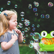 Frog Automatic Bubble Machine for kids Durable Bubble Blower Battery Outdoor