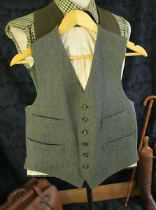 Amazing Bespoke Heavy Vintage Keepers Tweed Country Waistcoat 36 inch Small