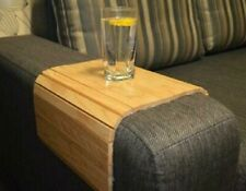 Flexible Sofa Arm Chair Tray Media Organiser Snack Serving Wooden Tray Arm Rest