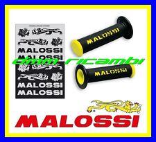 6914060.y0 manopole Scooters Malossi nere con Logo gialle chiuse