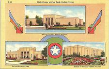 Dallas, Texas, Fair Park, Civic Center, Museum, Aquarium - Postcard (BB)