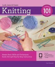 KNITTING 101 NEW BOOK MASTER BASIC SKILLS & TECHNIQUES EASILY BY STEP BY STEP