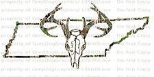 Camouflage Camo Tennessee Buck Hunter Hunting Vinyl Decal Sticker Deer Skull