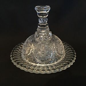 """REGAL GLORY """"Clear"""" Gorgeous Glass Butter Dish with Lid Decorative Bowl Ornament"""