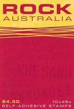 2001 AUSTRALIAN STAMP BOOKLET ROCK AUSTRALIA 10 x 45c STAMPS MUH