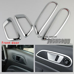 4x Chrome Front Inner Door Handle Cover Trim Bowl For Ford Fiesta 12-16 Ecosport