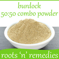Burdock Root Extract + Whole Root, 50:50 Combo Powder: - 5/50/100g