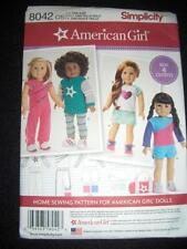 "18"" DOLL American Girl NEW Simplicity 8042 0171 Pattern Shorts Hoodie Bag"