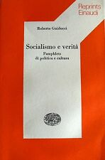 ROBERTO GUIDUCCI SOCIALISMO E VERITÀ PAMPLHETS DI POLITICA E CULTURA EINAUDI '76