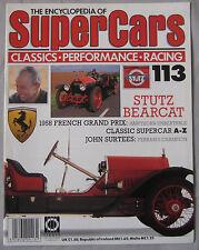 SUPERCARS magazine Issue 113 Stutz Bercat Cutaway drawing & poster, John Surtees