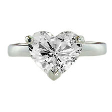 HEART CUT 1.11 CT. REAL DIAMOND SOLITAIRE ENGAGEMENT RING GAL CERTIFIED 14K