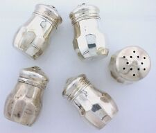 ONE SINGLE Vintage Sterling Silver Salt and Pepper Shakers Antique 1940's 5812