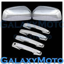 07-13 GMC Sierra Chrome Triple plated ABS Mirror+4 Door Handle W/O PSG KH Cover