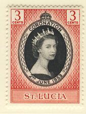 ST LUCIA 1953 CORONATION BLOCK OF 4 MNH