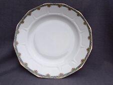 plat rond demi creux en porcelaine de limoges par legrand décor art nouveau