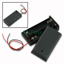 1PCS 2 AA 2A Battery Holder Box Case with ON/OFF Switch and Cover 2AA battery CA