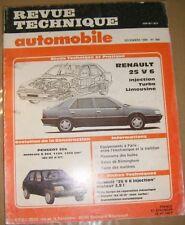 Revue technique automobile N° 498 Renault 25 V 6 Injection Turbo Limousine P 205