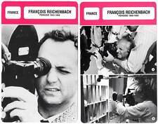 FICHE CINEMA x2 : FRANCOIS REICHENBACH DE 1955 A 1993 -  France (Bio/Filmo)