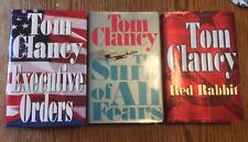 Tom Clancy Lot of 3 Hardcovers Jack Ryan Red Rabbit Sum of Fears Executive Order