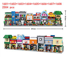 2504pcs MINI LOZ Diamond Blocks DIY Building Puzzle Toys  Street Store 1601-1608