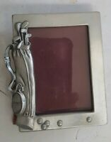 "Vintage Seagull Pewter Golf Picture 2"" x 3"" Photo Frame 1989"