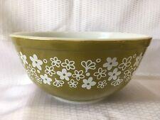 Vintage Pyrex Crazy Daisy Spring Blossom Green #403 Mixing/Nesting Bowl 2.5 Qt