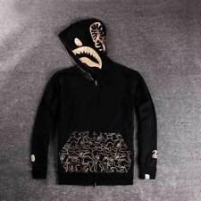 Bape* A Bathing ape Jacket SHARK Head Gold FULL ZIP HOODIE Long Sleeve Clothes