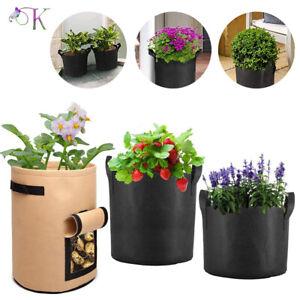 5X Plant Growing Bags Potato Fruit Vegetable Garden Planter Growing Bag New