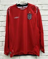 ENGLAND NATIONAL 20042006 HOME FOOTBALL JERSEY SOCCER SHIRT VINTAGE LONG SLEEVE