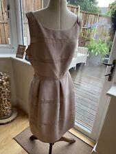 Mint Velvet Nude/Pale Blush Pink Skater Tea Dress, UK 18