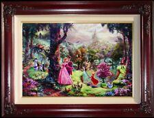 Thomas Kinkade Sleeping Beauty 24x36  S/N Limited Disney Canvas