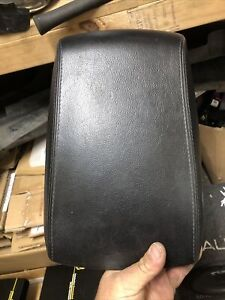 FORD BF FAIRMONT GHIA BLACK LEATHER STITCHED CONSOLE LID