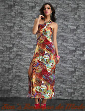 Clubwear One Shoulder Sleeve Multi-Colored Dresses for Women