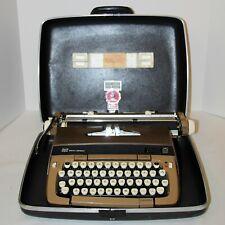 Vintage SCM Galaxie Twelve Portable Typewriter in Case w New Ribbon