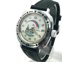 Vintage VOSTOK Admiral Ship Military Russian Flag Mechanical PERFECT Watch Date