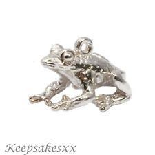 Sterling Silver FROG Toad Amphibian - NEW 3D UK charm charms