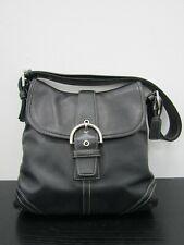 Coach Saddle Soho Women's Black Leather Hobo Shoulder Bag 9480
