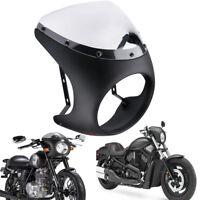 "Retro 7"" Universal Headlight Racer Handlebar Fairing Screen Windshield Hareness"