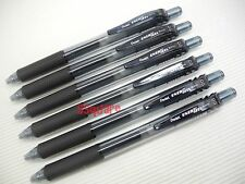 6 x Pentel EnerGel Ener Gel BLN105 0.5mm Needle Tip Rollerball Gel Pen, Black