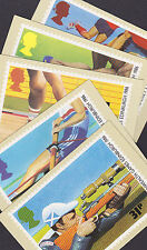 Great Britain GB 1986 Unused Full Set PHQ Stamp Cards No 94 Sport Hockey Rowing