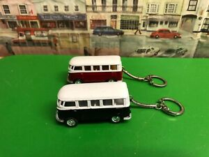 Volkswagen Van die cast model Keyrings , set of two