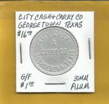 City Cash & Carry Co Georgetown Texas Token G/F $1.00 31 MM Aluminum