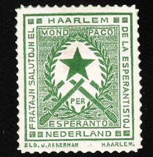 VINTAGE CINDERELLA Haarlem Netherlands ESPERANTO Old Hinge Tape Remnant  F