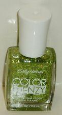 1 Sally Hansen COLOR FRENZY TEXTURED Nail Color Nail Polish GREEN MACHINE #370