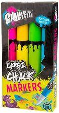 Lot de 4 néon craie stylos mega 30cm Chaussée Graffiti Art Marqueur peinture SET