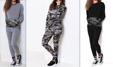 Femmes Imprimé Camouflage Armée Vêtement De Loisirs Ensemble Survêtement Jogging