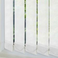 White Vertical Blind Replacement Slats Louvres Vanes Made To Measure 89mm Wide